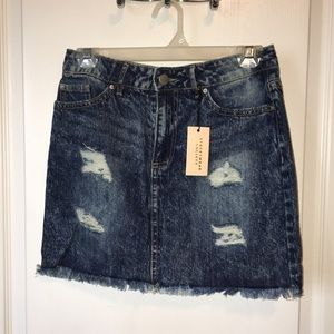 Streetwear society denim skirt